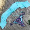 Blue Ruffles Swimsuit